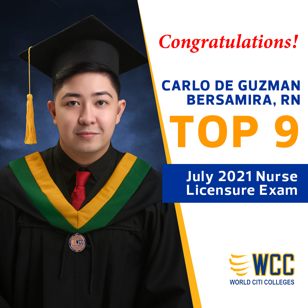 WCC Ranked Top 9 Spot in the July 2021 Nurse Licensure Exam