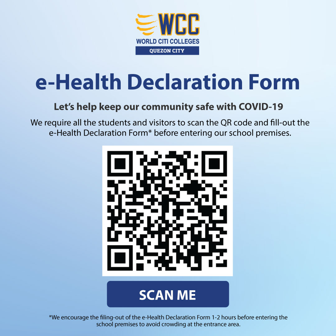 Let's help keep our community safe with COVID-19   e-Health Declaration Form